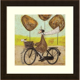 Framed Art Print 'Best Face Forward (Bike)' by Sam Toft 17 x 17-inch