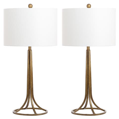 Safavieh Lighting 30-inch McKenna Antique Bronze Table Lamp (Set of 2)