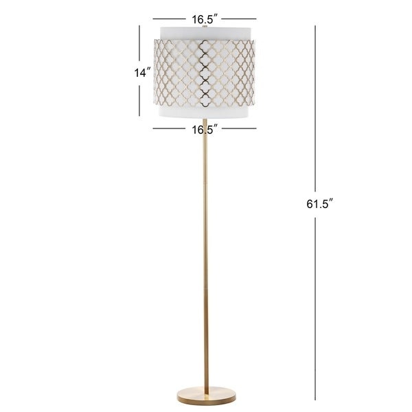 Safavieh Lighting 61.5-inch Priscilla Gold Floor Lamp