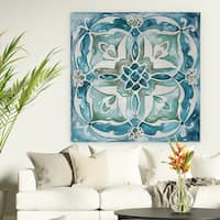 'Carribean Tile III' Premium Gallery Wrapped Canvas (4 Sizes Available)