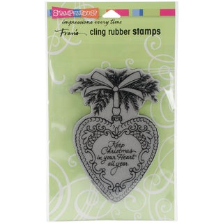Stampendous Cling Stamp 6.5X4.5-Christmas Heart