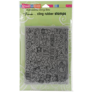 Stampendous Cling Stamp 6.5X4.5-Festive Background