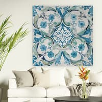 'Caribbean Tile I' Canvas Premium Gallery-wrapped Canvas Wall Art
