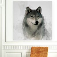 Wexford Home 'Rainsoft Wolf' Premium Gallery Wrapped Canvas