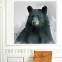 'Rainsoft Bear' Canvas Premium Gallery-wrapped Wall Art