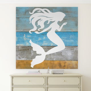 Wexford Home F Rosenstiels Widow & Son 'Woodgrain Mermaid' Premium Gallery Wrapped Canvas
