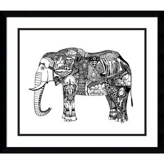 Framed Art Print 'Goodbye Elephant' by Liz Ash 23 x 20-inch