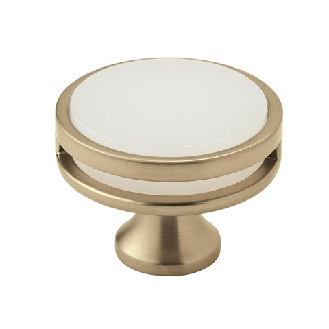 Amerock Oberon Golden Champagne Frosted Acrylic Cabinet Knob
