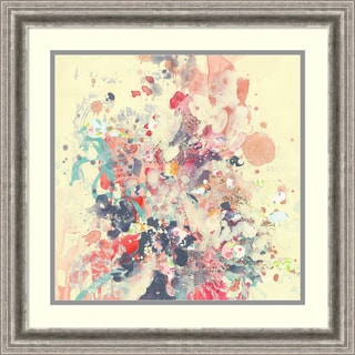 Framed Art Print 'Cream III (Floral)' by Kathryn Neale 23 x 23-inch