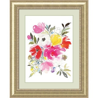 Framed Art Print 'Pink Expression (Floral)' by Joy Ting 33 x 41-inch