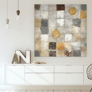 'Metallic Mosaic II' Canvas Premium Gallery-wrapped Wall Art