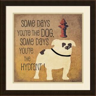 Framed Art Print 'Some Days (Bulldog)' by Jo Moulton 22 x 22-inch