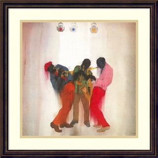 Framed Art Print 'Black, Brown and Beige (Jazz)' by Jim Tanaka 22 x 22-inch