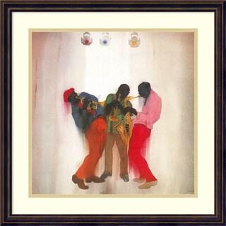 Framed Art Print 'Black, Brown and Beige (Jazz)' by Jim Tanaka 22 x 22-inch