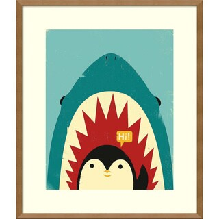 Framed Art Print 'Hi! (Penguin)' by Jay Fleck 23 x 27-inch