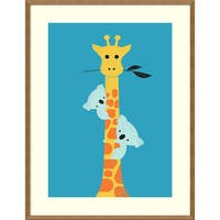 Framed Art Print 'I'll Be Your Tree (Giraffe)' by Jay Fleck 27 x 35-inch