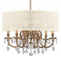 Brentwood 6-light Olde Brass Strass Crystal Chandelier