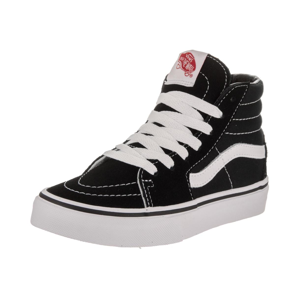 Vans Kids' Sk8-Hi Black Suede Skate Shoes (13.5), Boy's