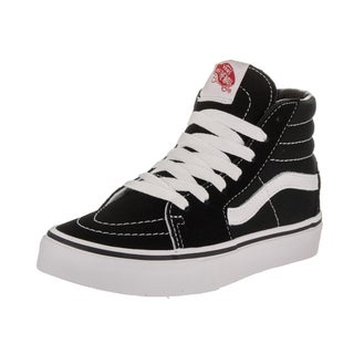 Vans Kids' Sk8-Hi Black Suede Skate Shoes