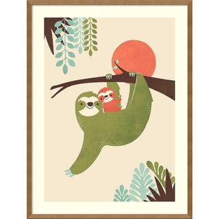 Framed Art Print 'Mama Sloth' by Jay Fleck 25 x 33-inch