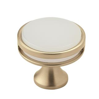 Amerock Oberon Golden Champagne/ Frosted Acrylic 35 Mm Cabinet Knob