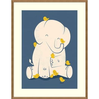 Framed Art Print 'Big Mama (Elephant)' by Jay Fleck 27 x 35-inch