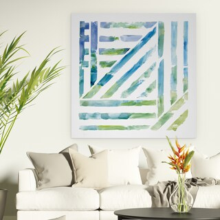 Wexford Home 'Linear Kaleidoscope I' Gallery Wrapped Canvas Wall Art