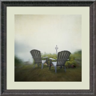 Framed Art Print 'Being Present in the Moment' by Dawn D. Hanna 23 x 23-inch
