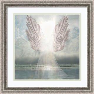 Framed Art Print 'I Am Guided (Angel)' by David M (Maclean) 23 x 23-inch