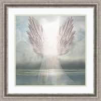 Framed Art Print 'I Am Guided (Angel)' by David M (Maclean) 23 x 23-inch