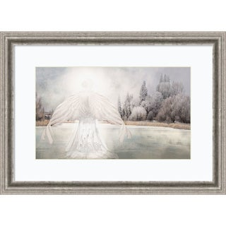 Framed Art Print 'I Am Peaceful (Angel)' by David M (Maclean) 29 x 21-inch
