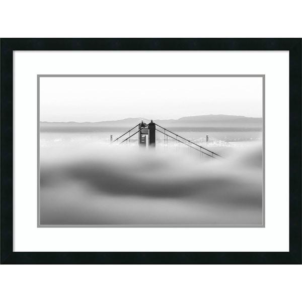 Shop Framed Art Print \'Across the Bay BW (Golden Gate)\' by Dave ...