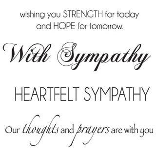 "Mini Clear Stamps 2.25""X3""-Sympathy Words"