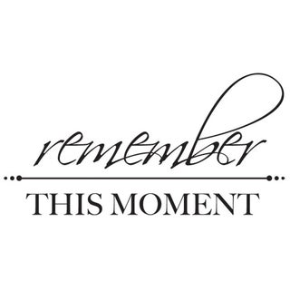 """Mini Clear Stamps 2.25""""X3""""-Remember This Moment Words"""