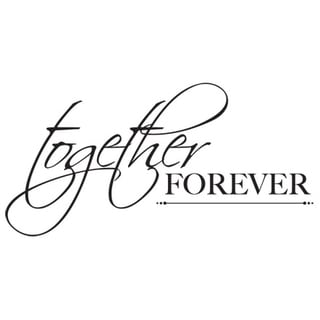 "Mini Clear Stamps 2.25""X3""-Together Forever Words"