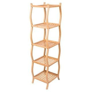 BirdRock Home Bamboo 5-Tier Storage Shelving Unit
