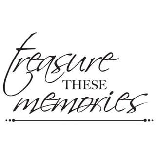 "Mini Clear Stamps 2.25""X3""-Treasured Memories Words"
