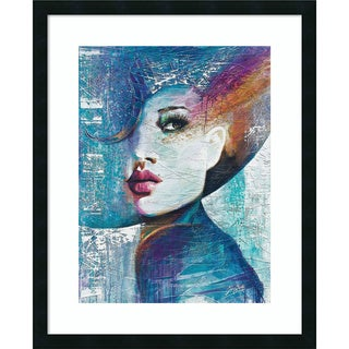 Framed Art Print 'Angie' by Colin John Staples 26 x 32-inch