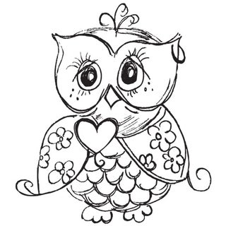 "Mini Clear Stamps 2.25""X3""-Owl"