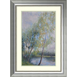 Framed Art Print 'Poetry on Riverbank' by Clement Nivert 25 x 34-inch