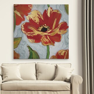 'Crimson Crush III' Canvas Premium Gallery-wrapped Wall Art