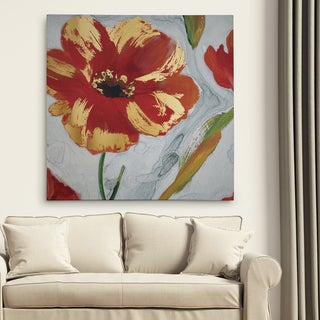 'Crimson Crush I' Premium Gallery Wrapped Canvas Wall Art
