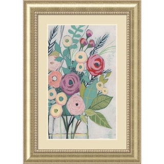 Framed Art Print 'Soft Spring Bouquet I (Floral)' by Grace Popp 31 x 43-inch