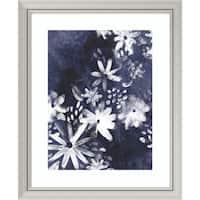 Framed Art Print 'Indigo Floral Gesture I' by June Vess 28 x 34-inch