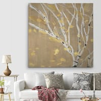 'Birch Wood III' Canvas Premium Gallery-wrapped Wall Art