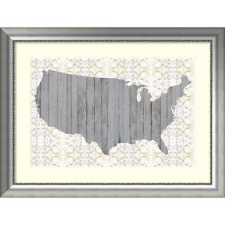 Framed Art Print 'Flower Map IV' by Jennifer Goldberger 41 x 31-inch