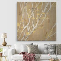 'Birch Wood II' Canvas Premium Gallery-wrapped Wall Art