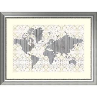Framed Art Print 'Flower Map III' by Jennifer Goldberger 41 x 31-inch