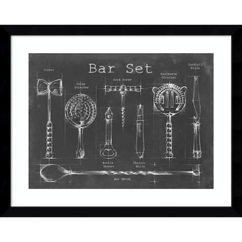 Framed Art Print 'Bar Set' by Ethan Harper 39 x 31-inch