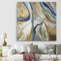 Wexford Home 'Agate & Gold II' Premium Gallery Wrapped Canvas with 4 Sizes Available
